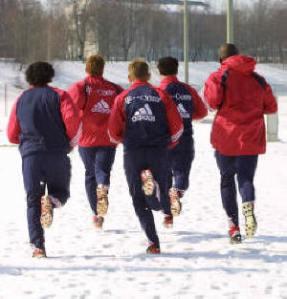 Corriendo en la nieve